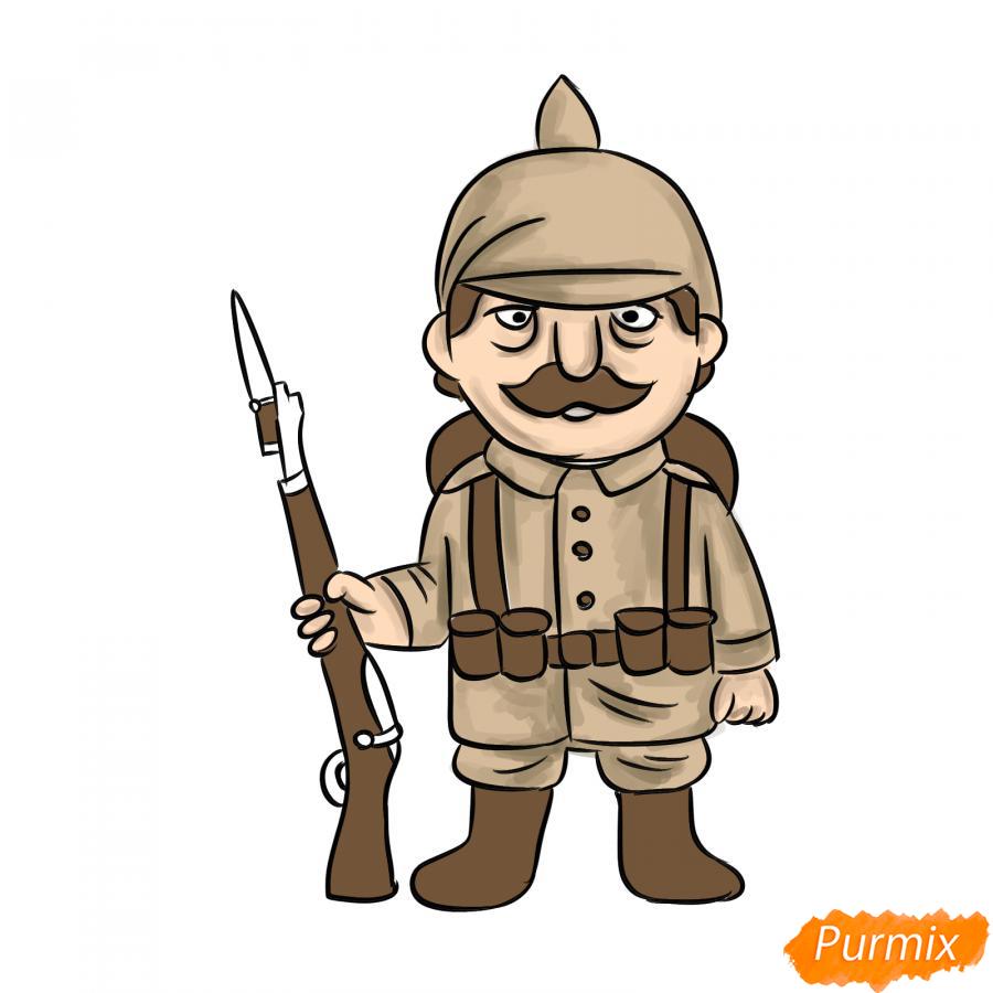 Рисуем немецкого солдата - шаг 9
