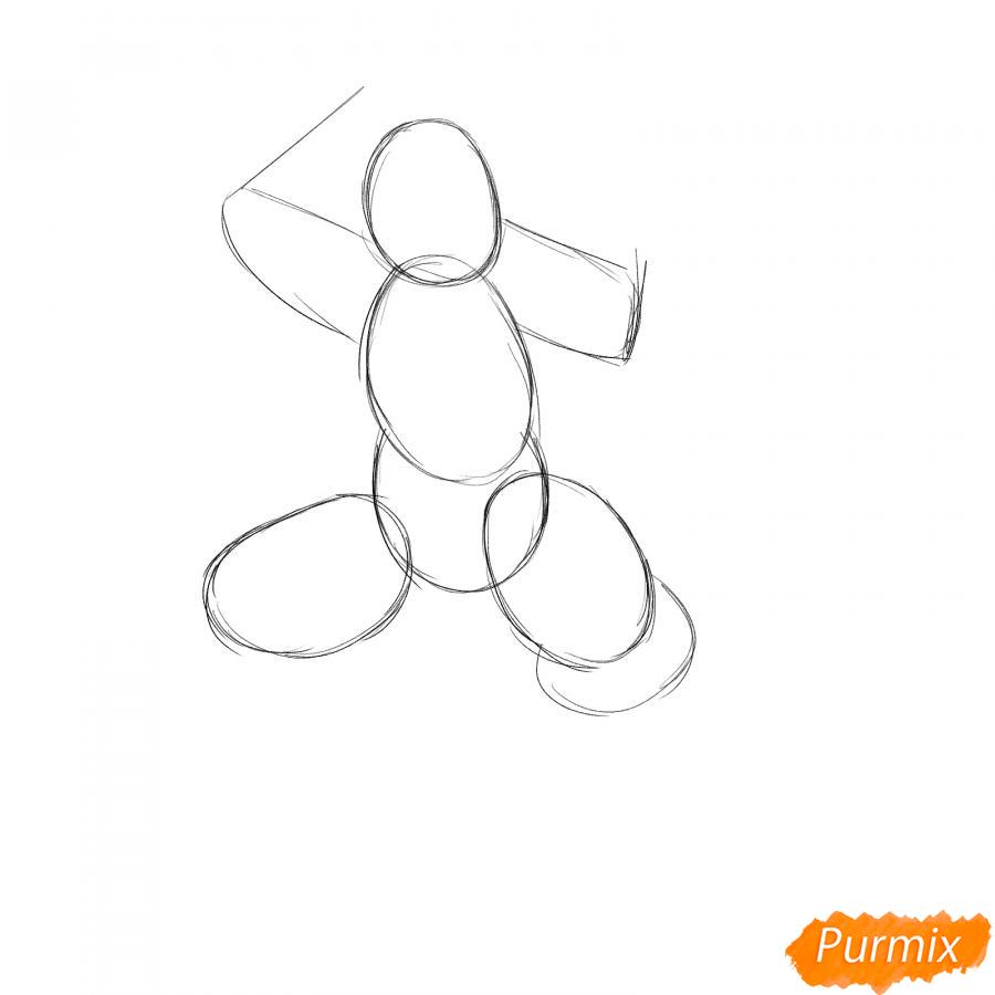 Рисуем ниндзя - шаг 1