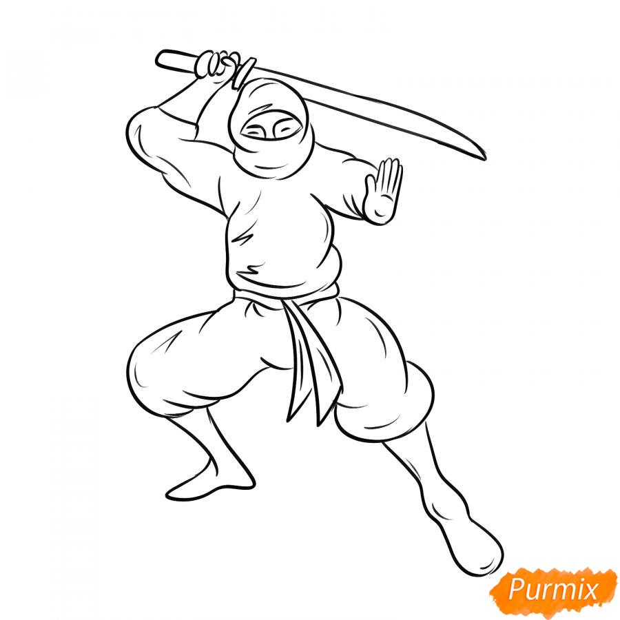 Рисуем ниндзя - шаг 5