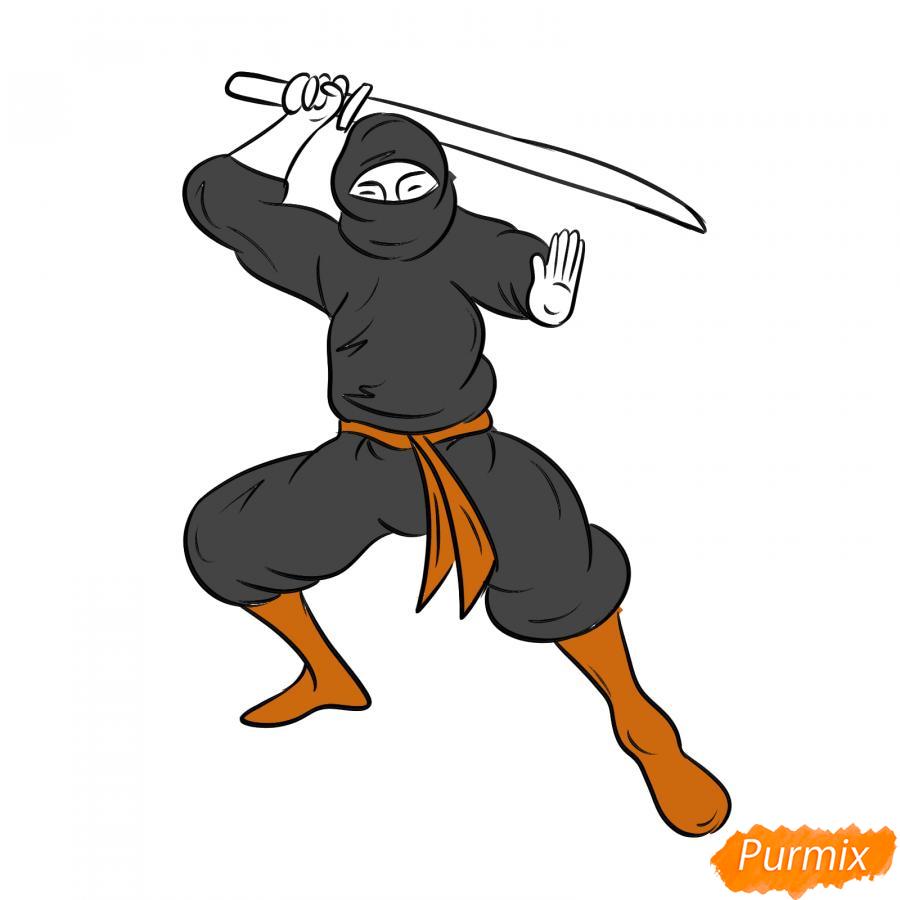 Рисуем ниндзя - шаг 6