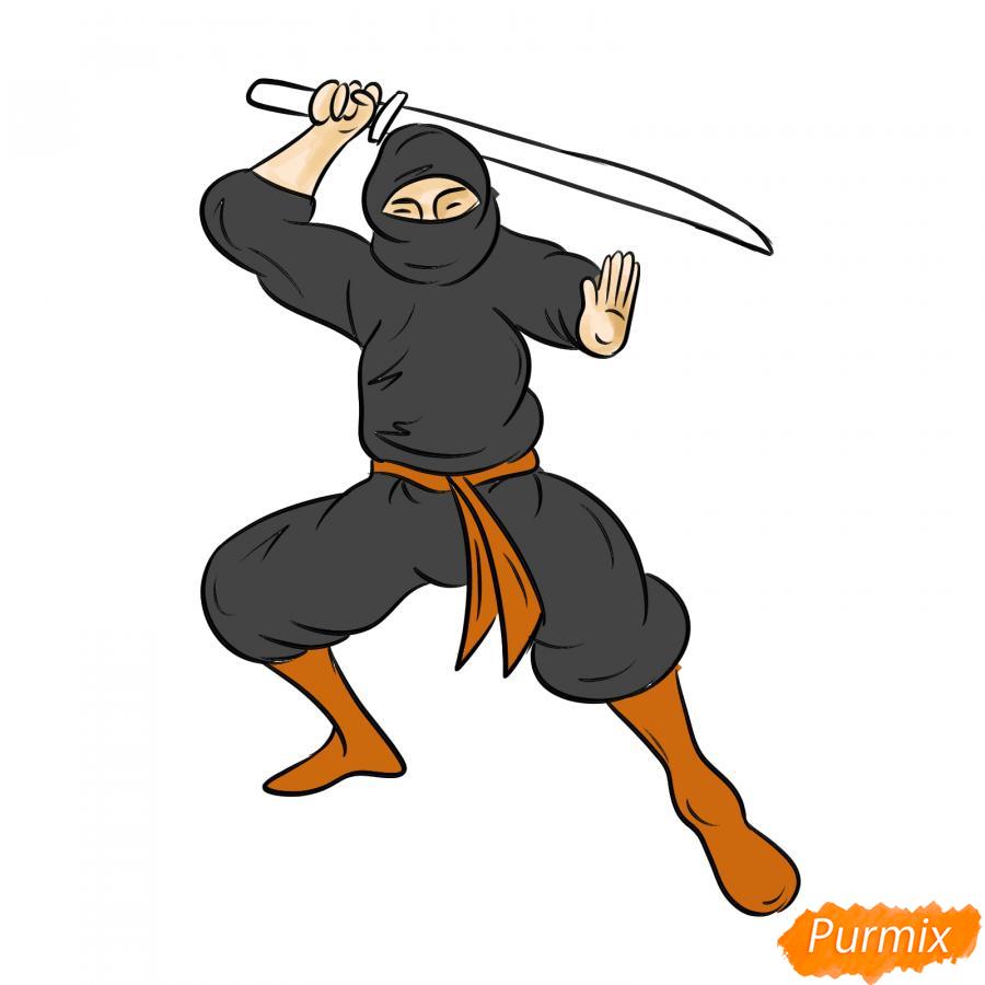 Рисуем ниндзя - шаг 7