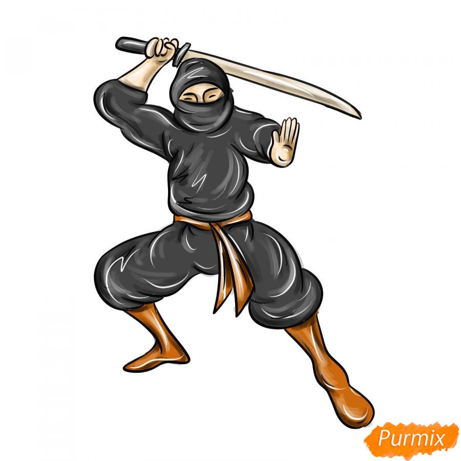 Рисуем ниндзя - шаг 8