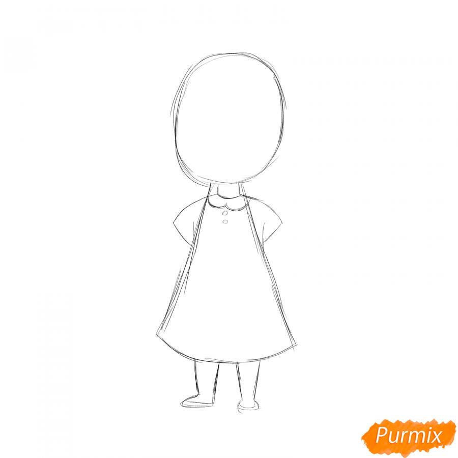 Рисуем парикмахера девочку для детей - шаг 2