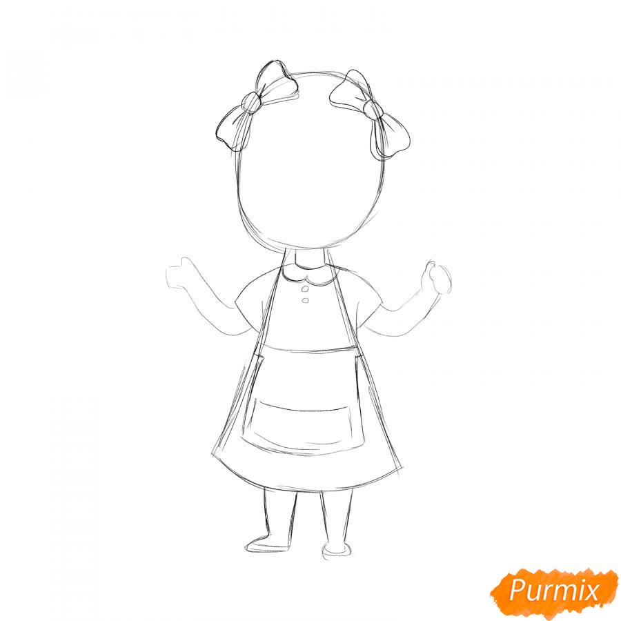 Рисуем парикмахера девочку для детей - шаг 3