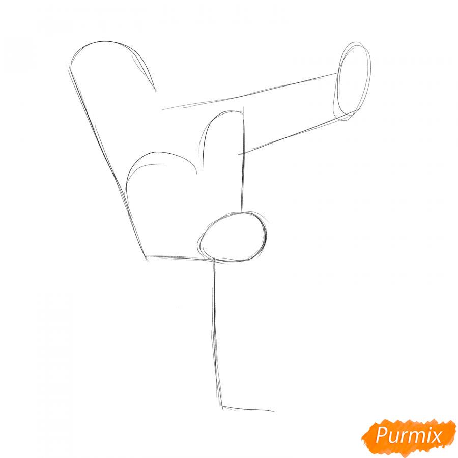 Рисуем парня танцующего брейк-данс - шаг 2