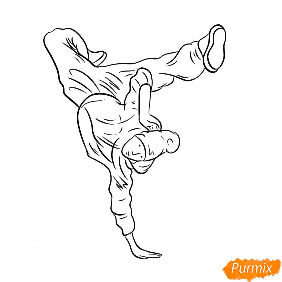 Рисуем парня танцующего брейк-данс - шаг 6