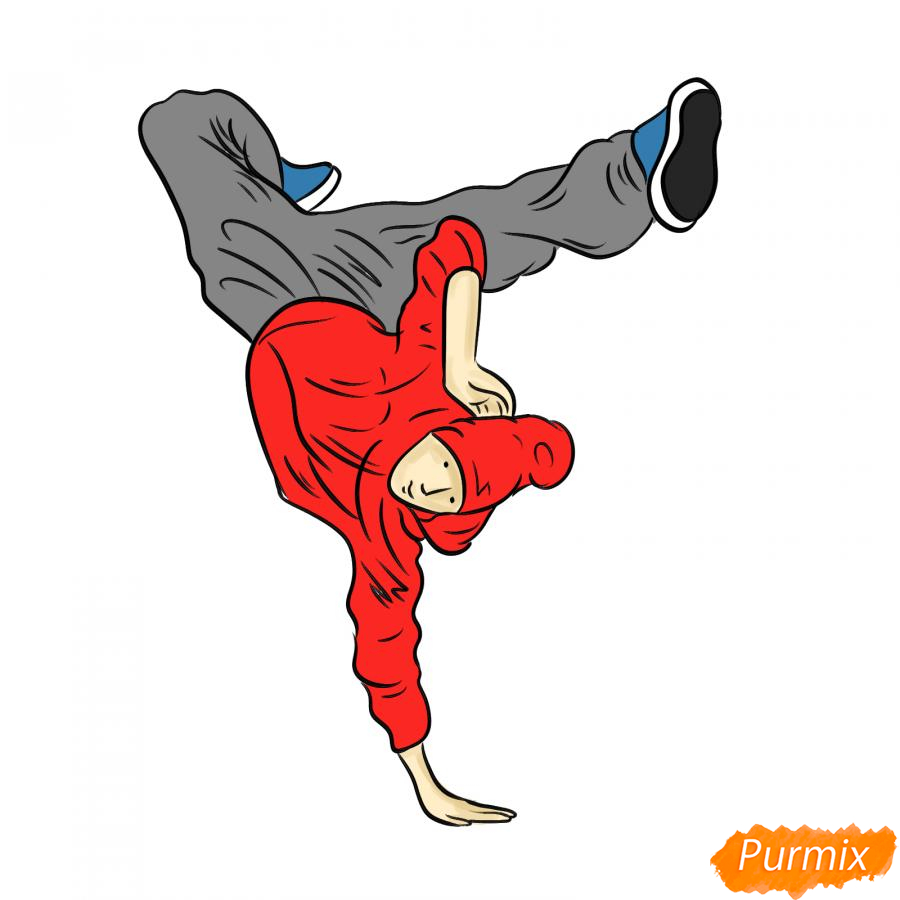 Рисуем парня танцующего брейк-данс - шаг 8