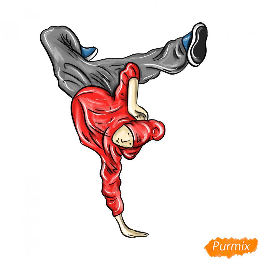 Рисуем парня танцующего брейк-данс - шаг 9