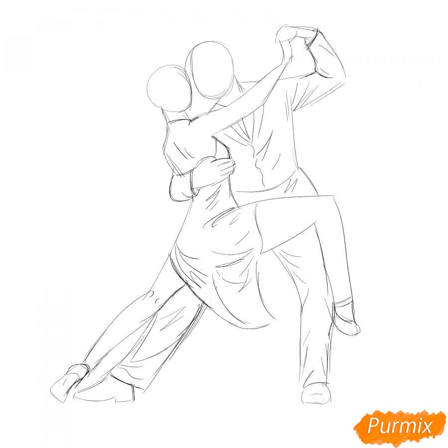 Рисуем пару танцующую вальс - шаг 3