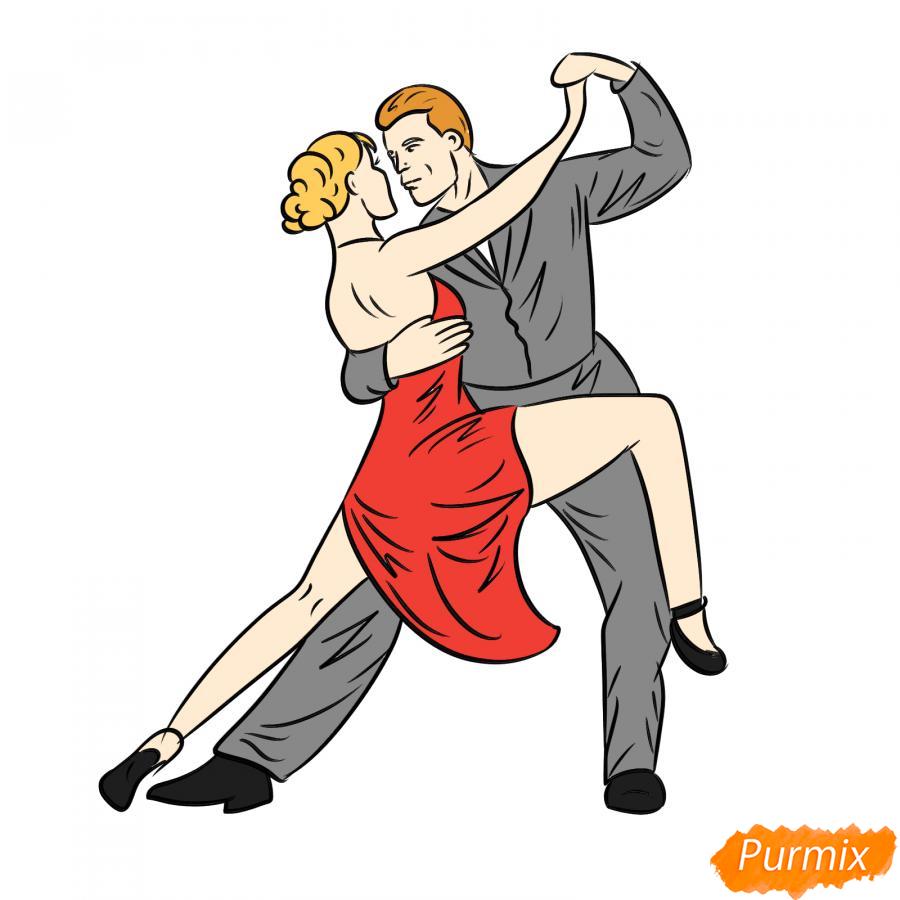 Рисуем пару танцующую вальс - шаг 7