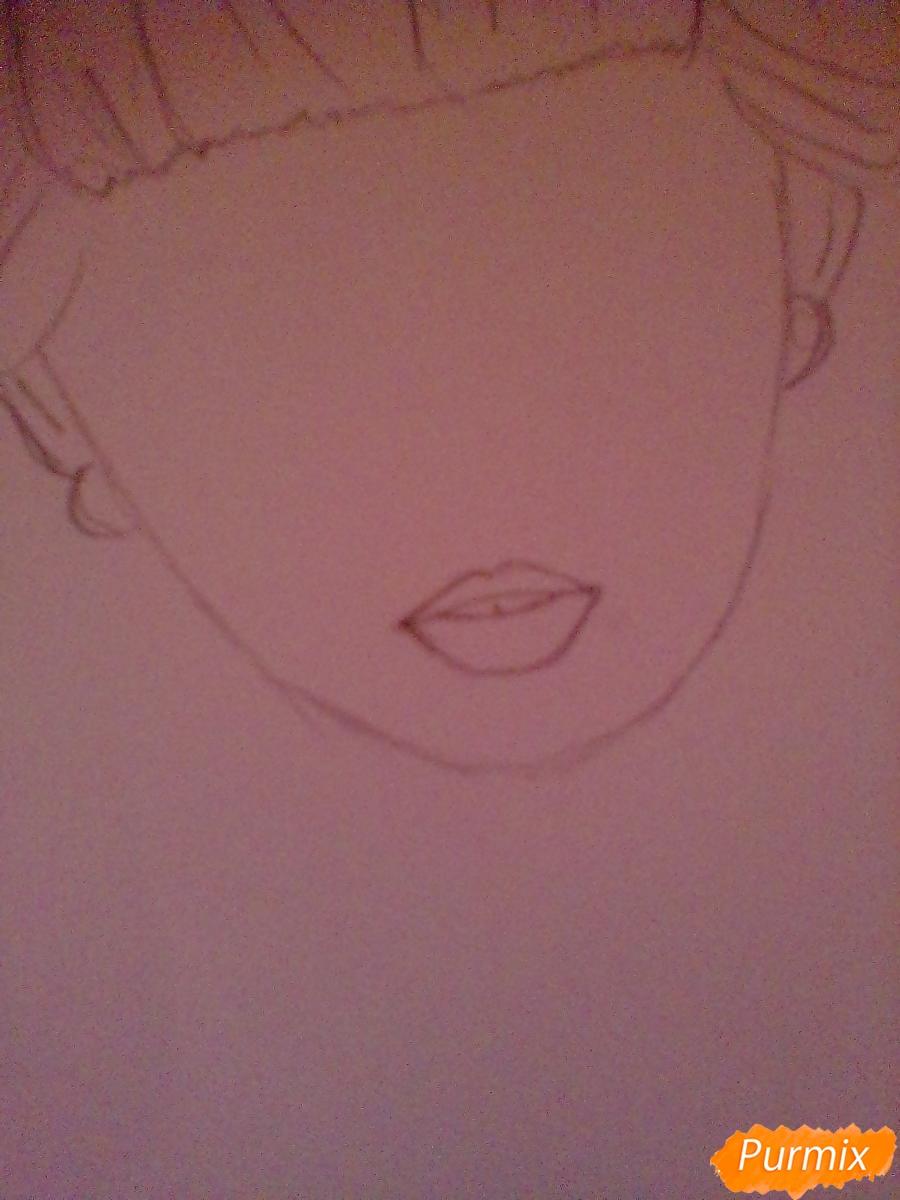 Рисуем портрет певицы Melanie Martinez из клипа Pity Party - шаг 4