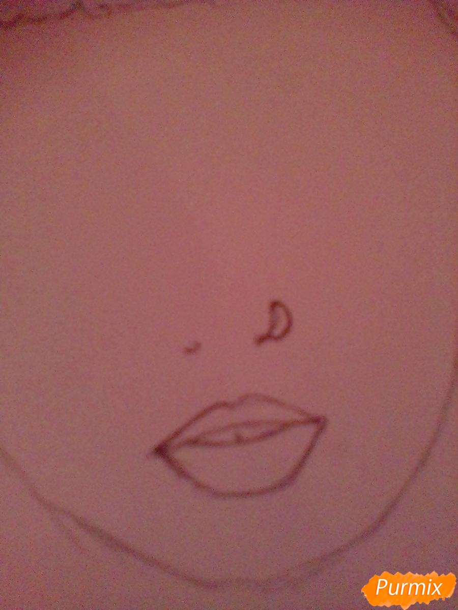 Рисуем портрет певицы Melanie Martinez из клипа Pity Party - шаг 5