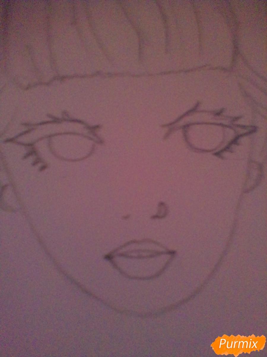 Рисуем портрет певицы Melanie Martinez из клипа Pity Party - шаг 6