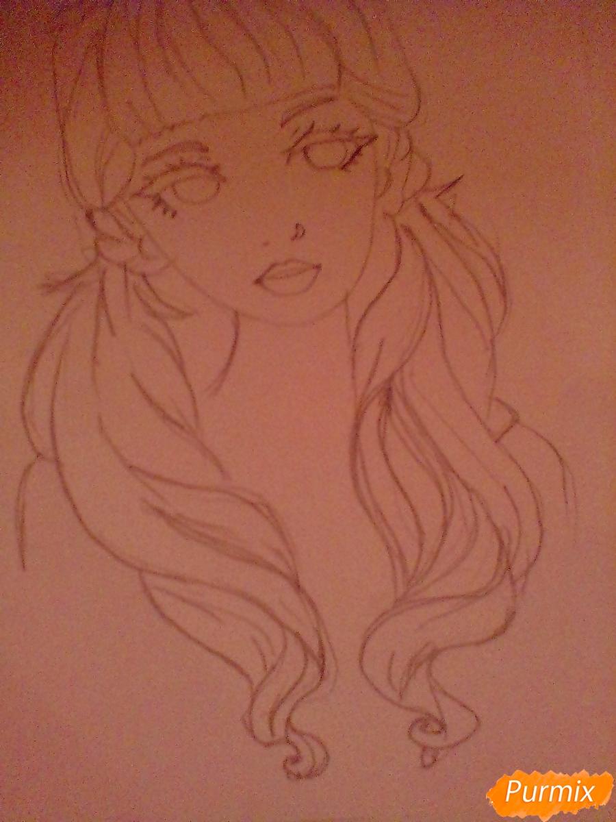 Рисуем портрет певицы Melanie Martinez из клипа Pity Party - шаг 7