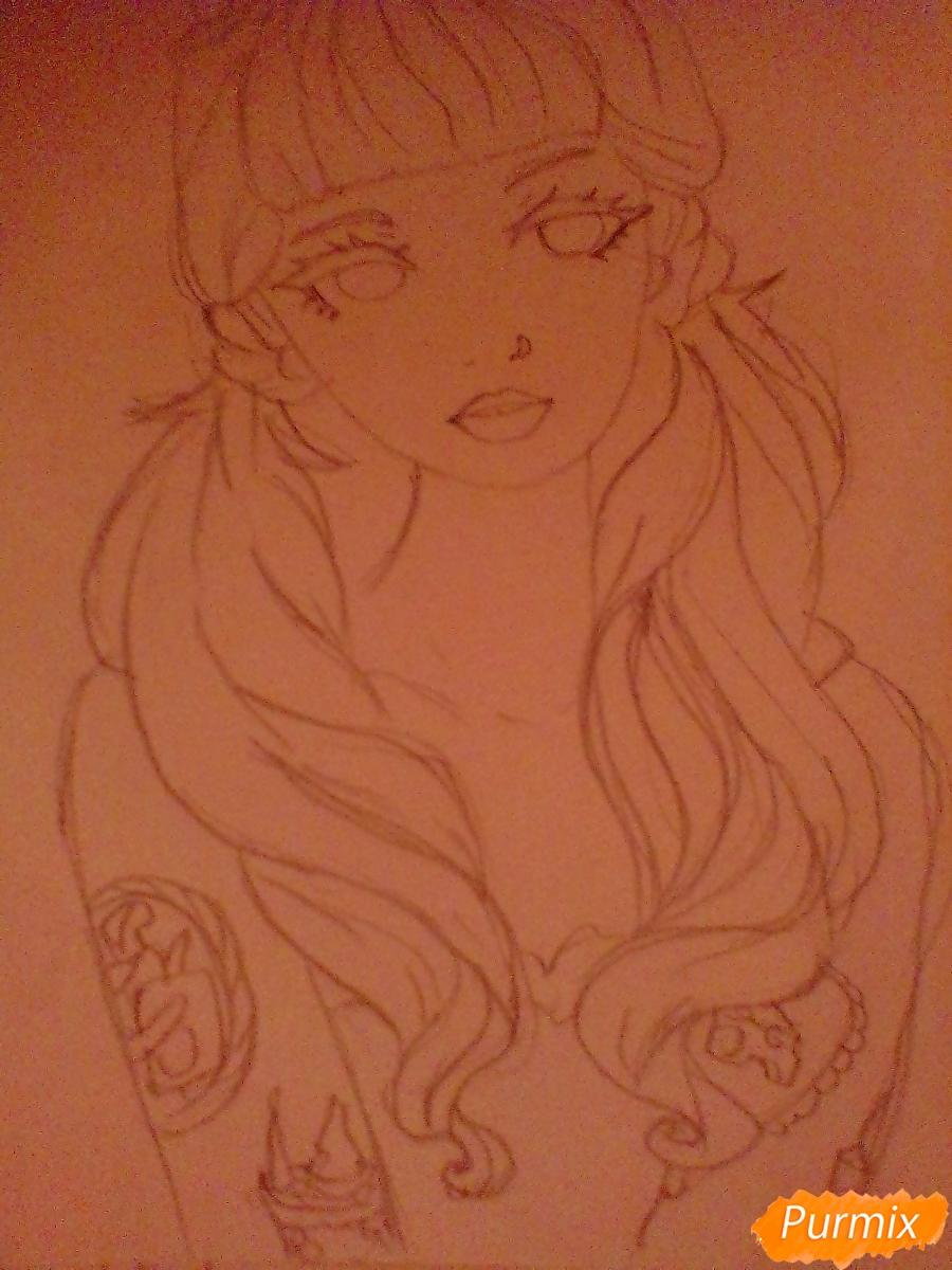 Рисуем портрет певицы Melanie Martinez из клипа Pity Party - шаг 8