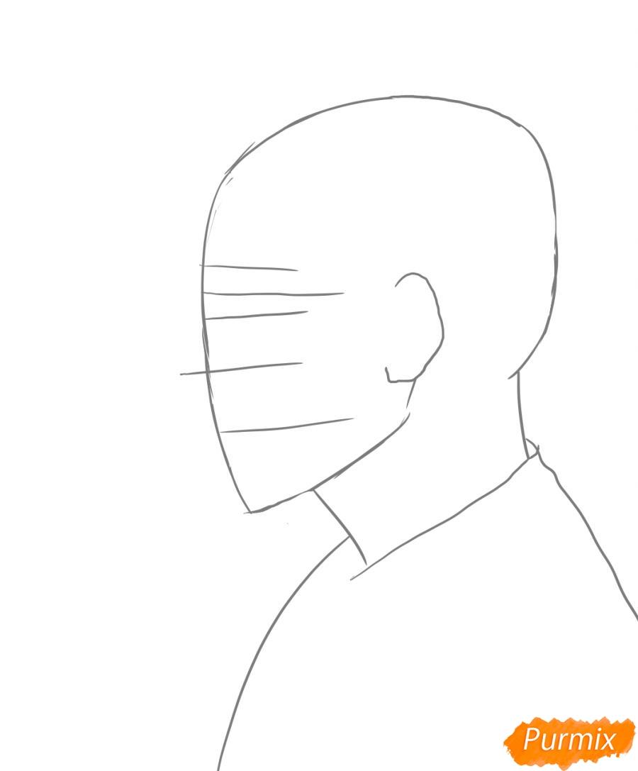Рисуем портрет Зико лидера группы Block B - шаг 1