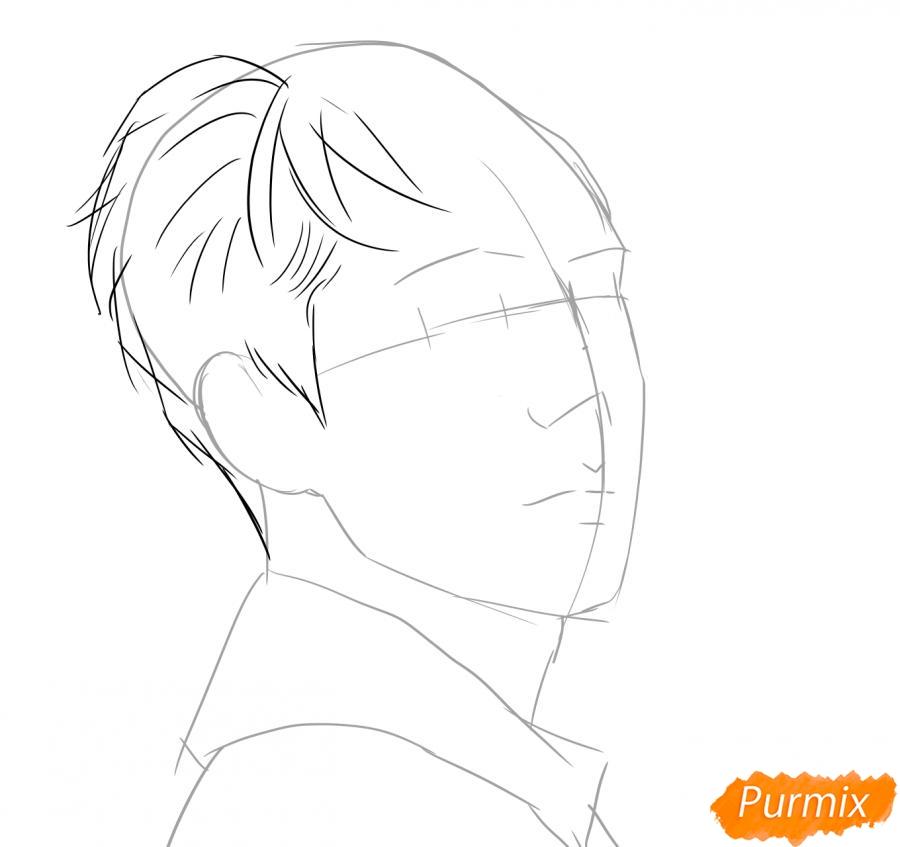 Рисуем портрет О Се Хуна - шаг 2