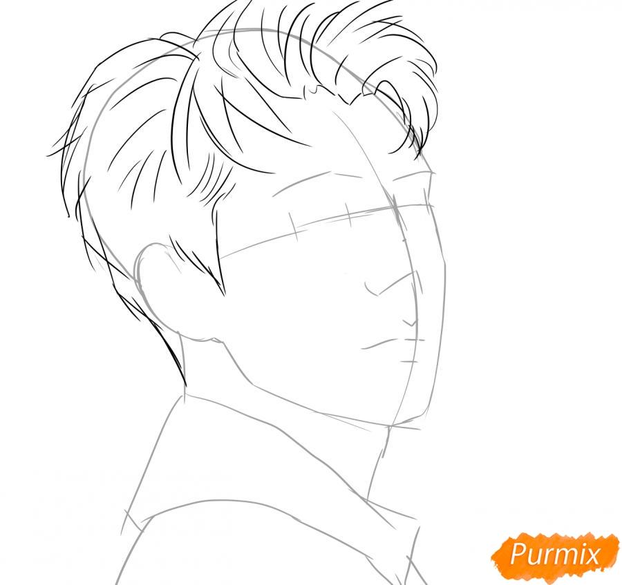 Рисуем портрет О Се Хуна - шаг 3