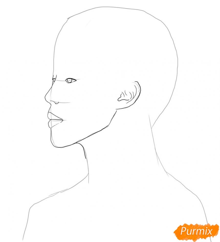 Рисуем портрет Пак Чимина из группы BTS - шаг 2