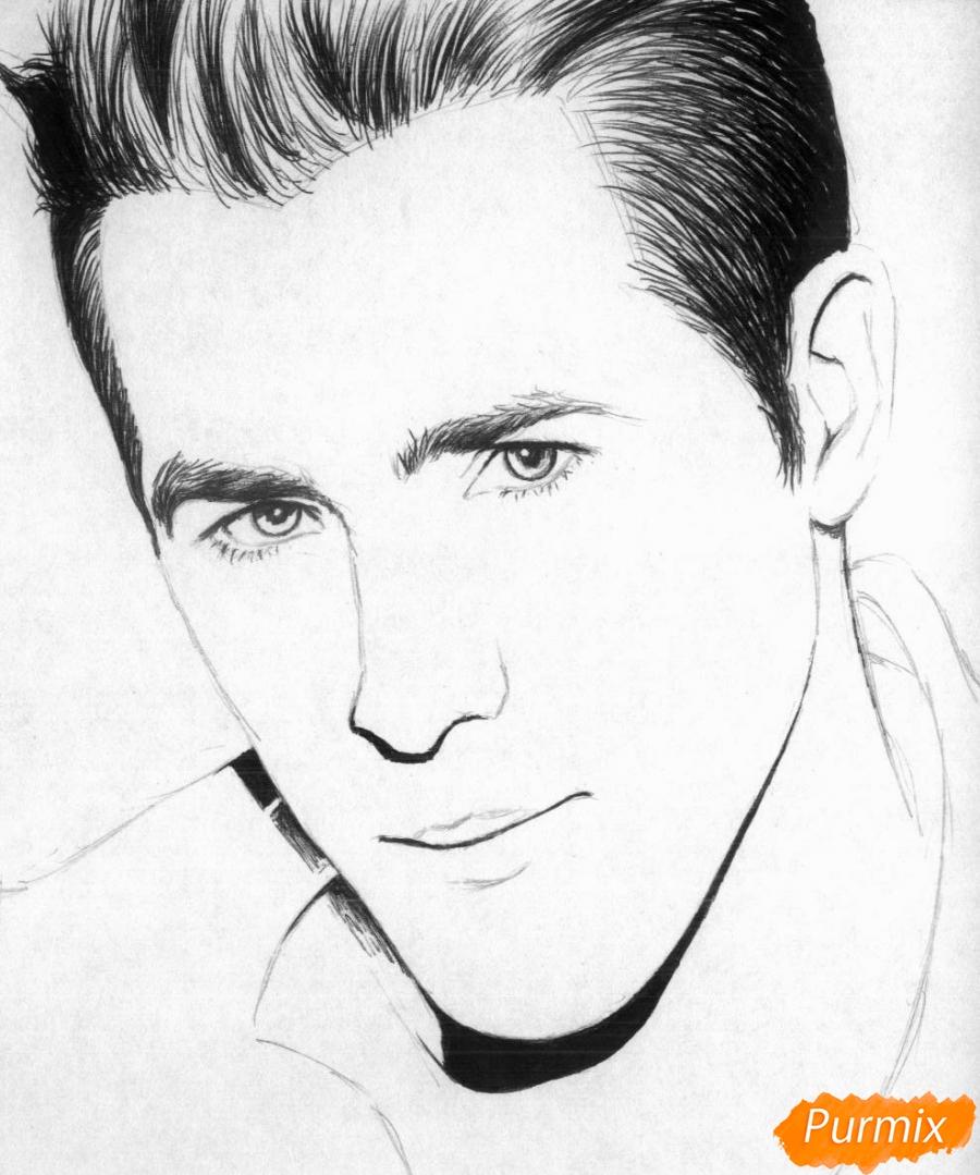 Рисуем портрет Райан Рейнольдс - шаг 2