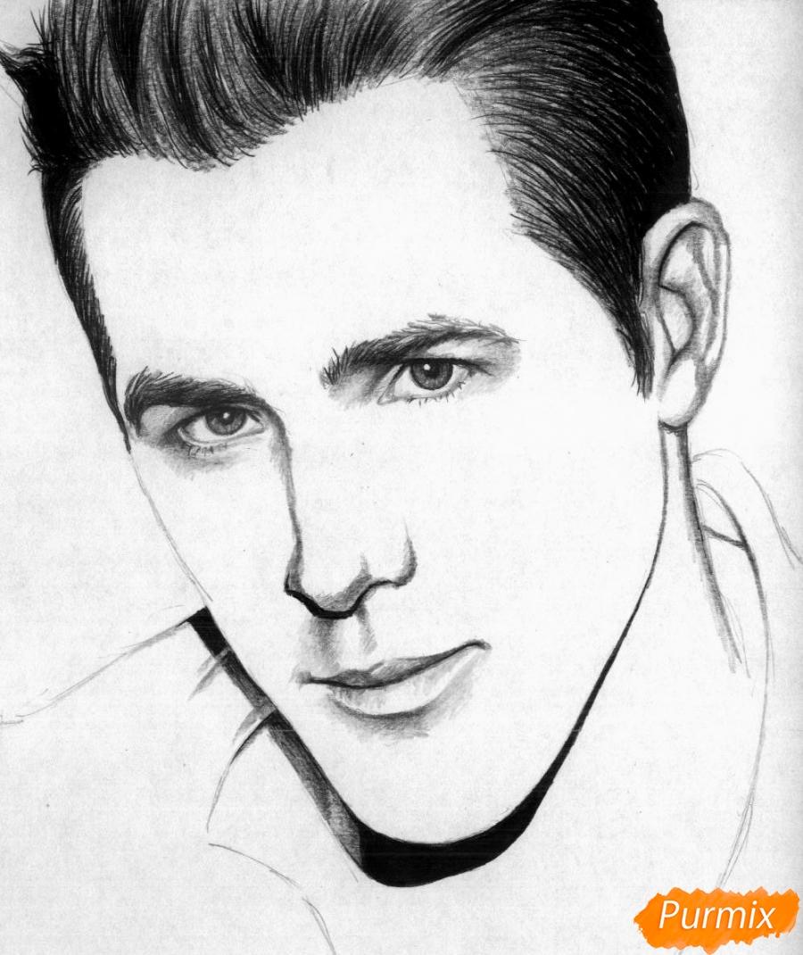 Рисуем портрет Райан Рейнольдс - шаг 3