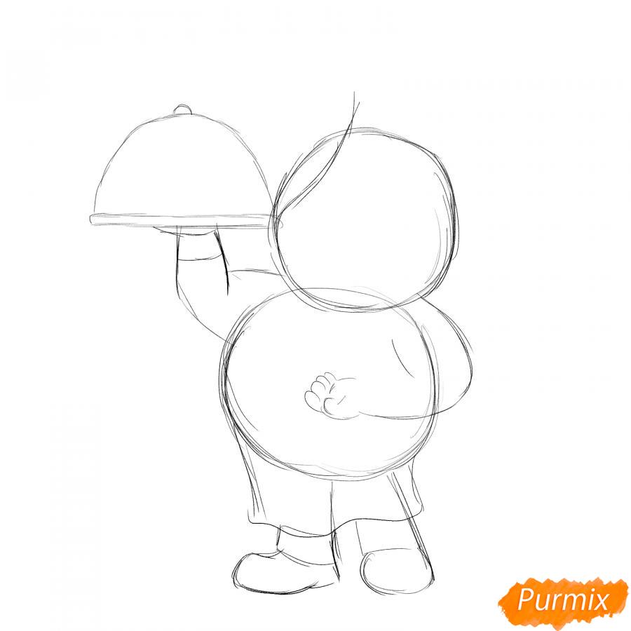 Рисуем повара - шаг 2