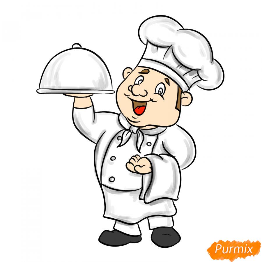 Рисуем повара - шаг 7