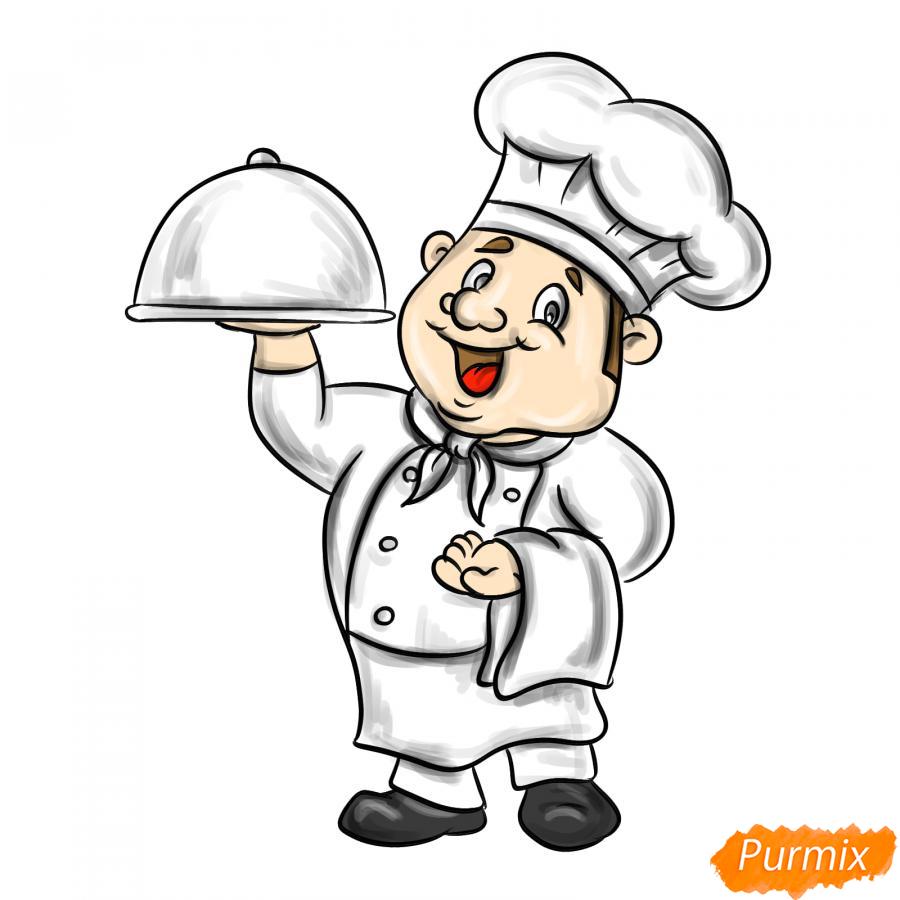 Рисуем повара - шаг 8