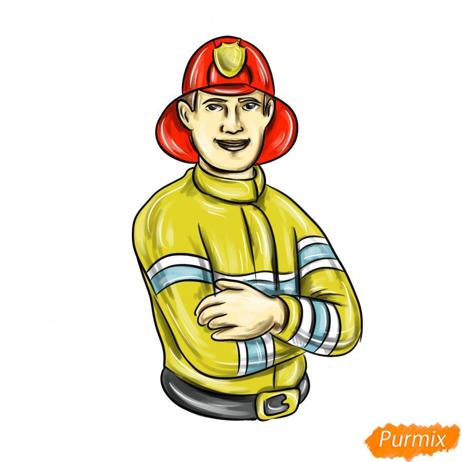 Рисуем пожарного - шаг 10