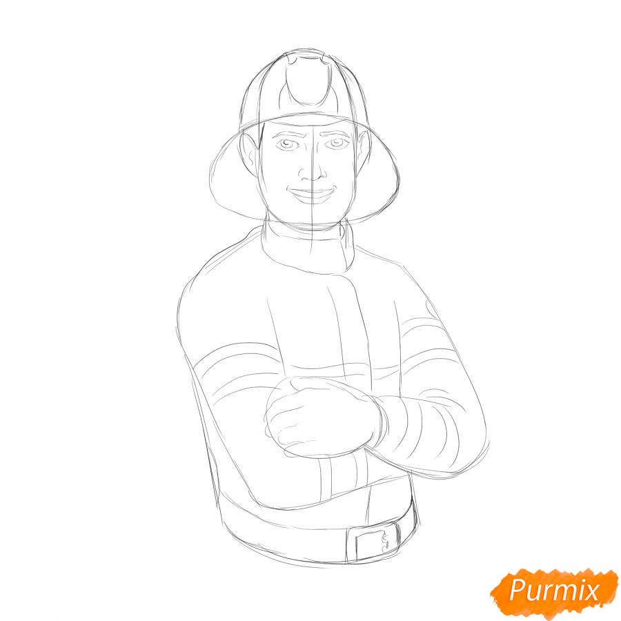 Рисуем пожарного - шаг 4