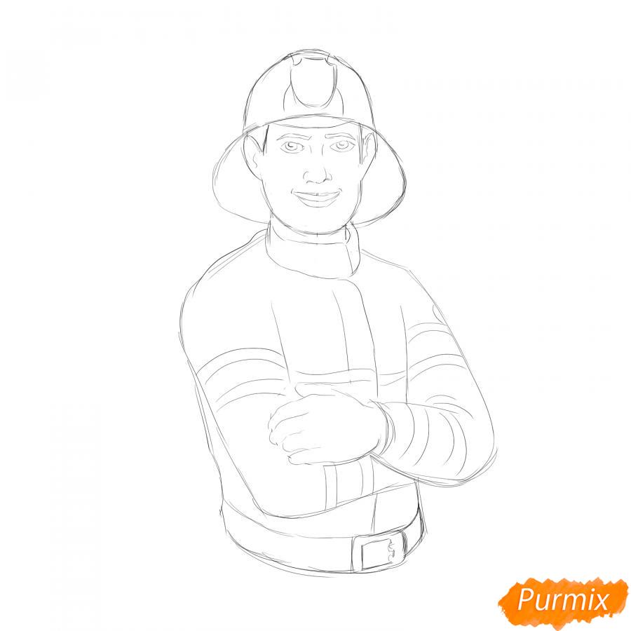 Рисуем пожарного - шаг 5