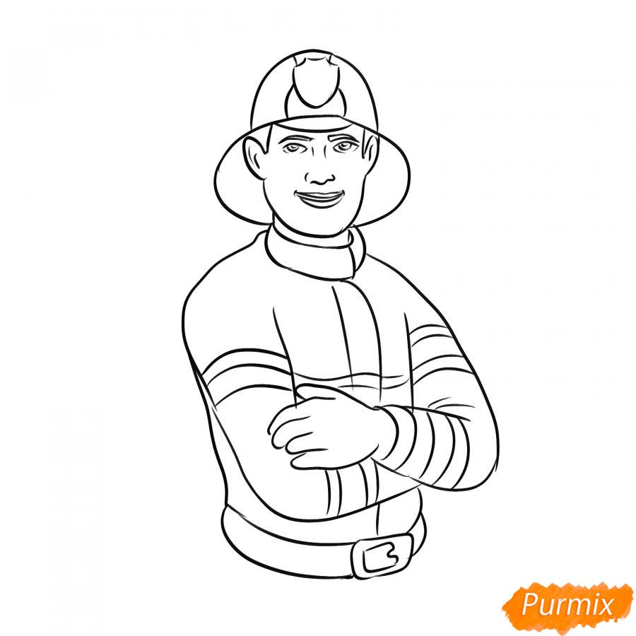 Рисуем пожарного - шаг 6