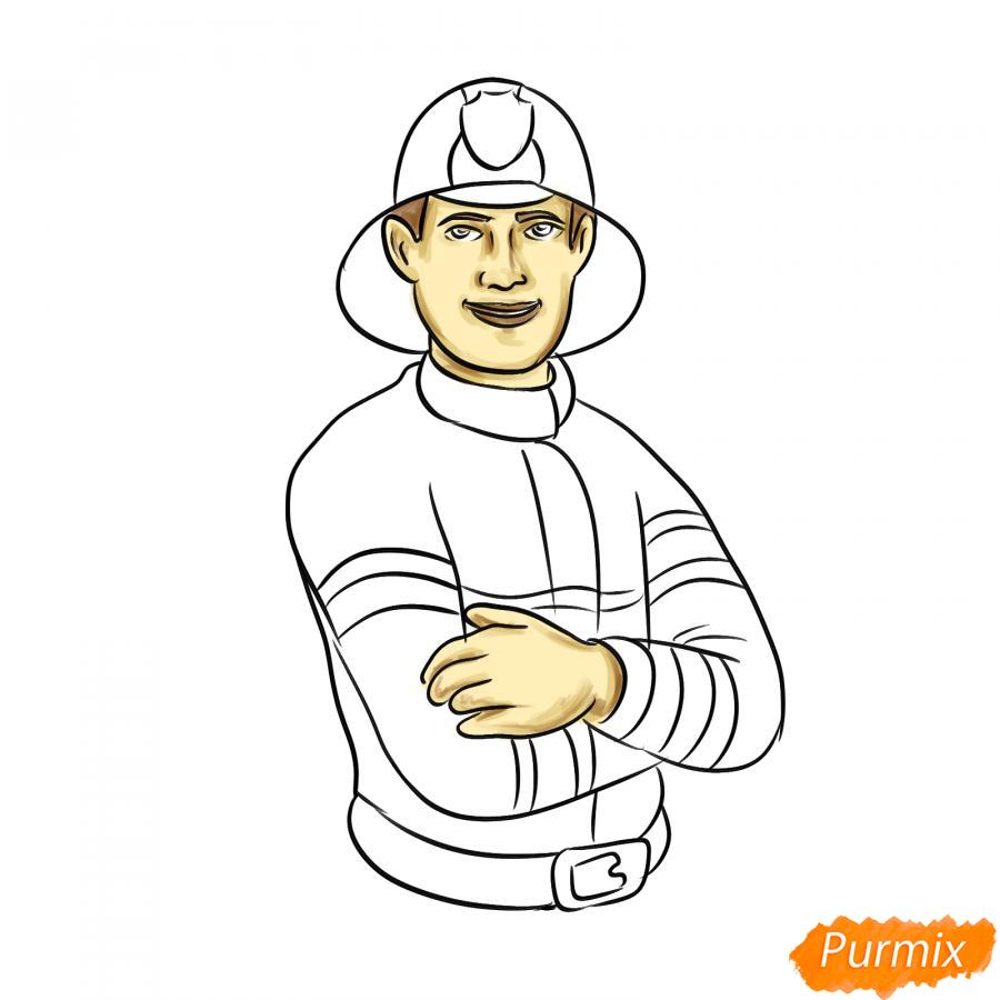 Рисуем пожарного - шаг 7