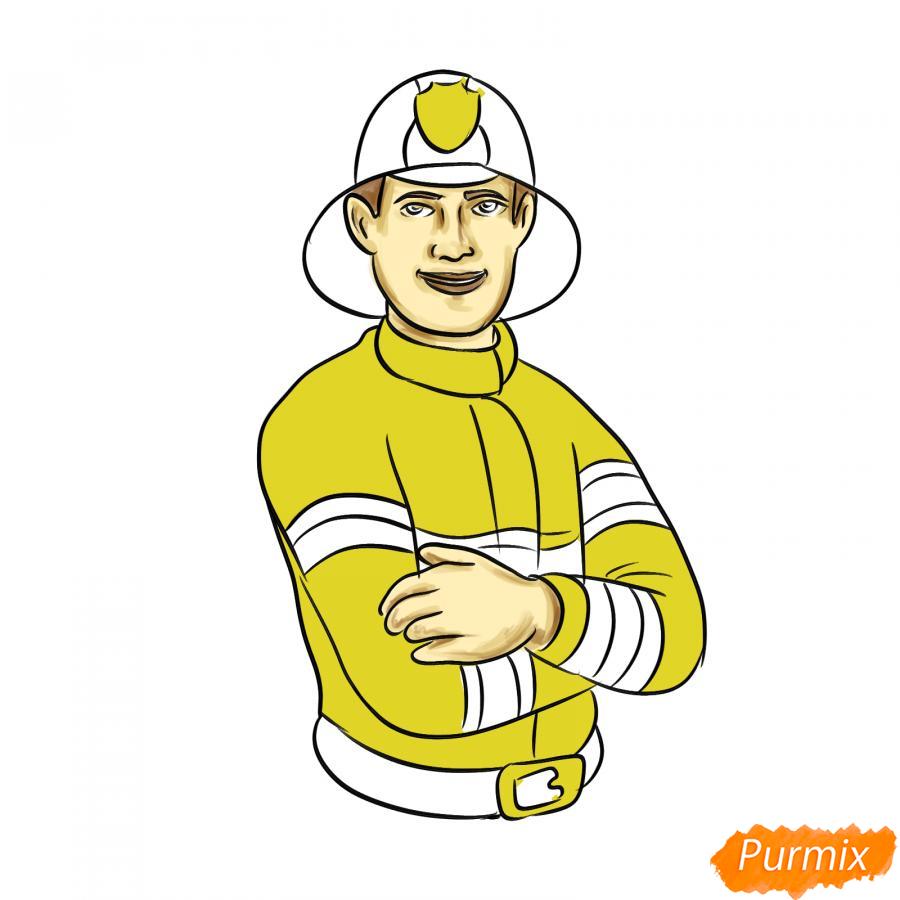 Рисуем пожарного - шаг 8