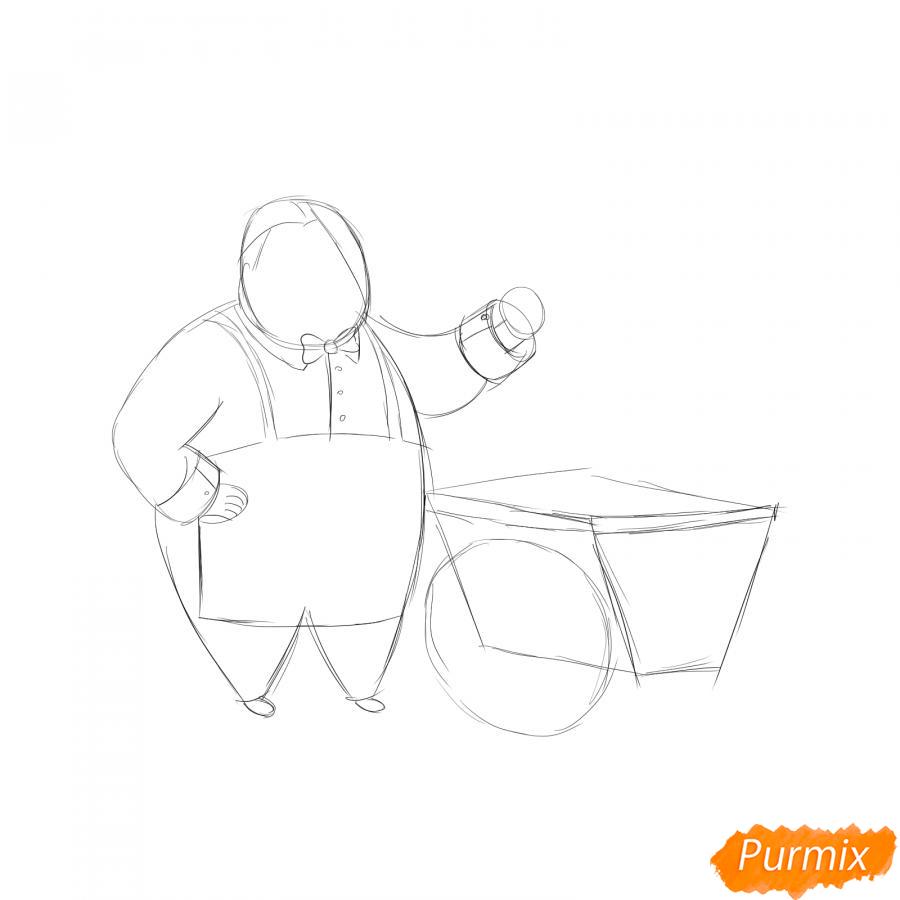Рисуем продавца мороженого - шаг 2