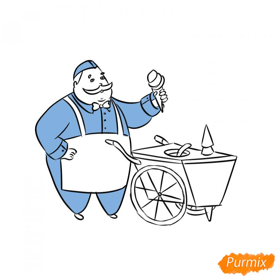 Рисуем продавца мороженого - шаг 6