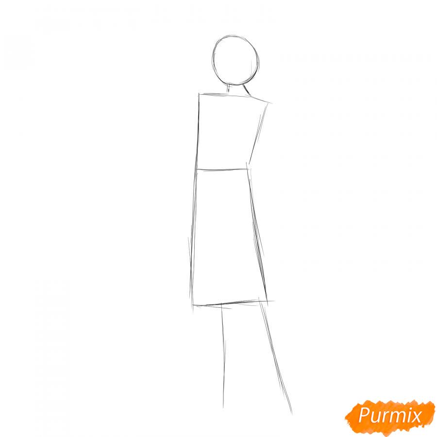 Рисуем продавца одежды - шаг 1