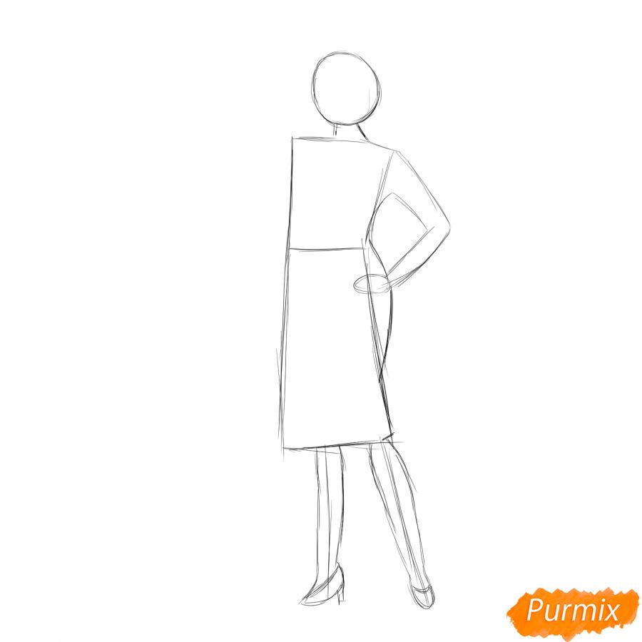 Рисуем продавца одежды - шаг 2