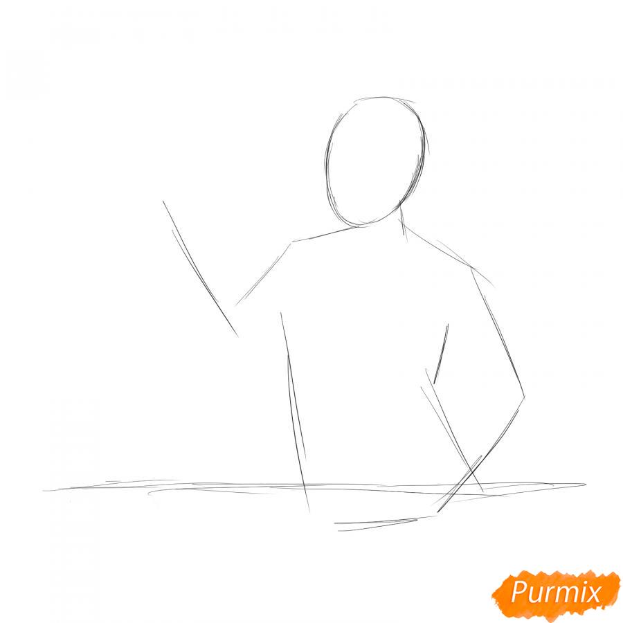 Рисуем продавца - шаг 1