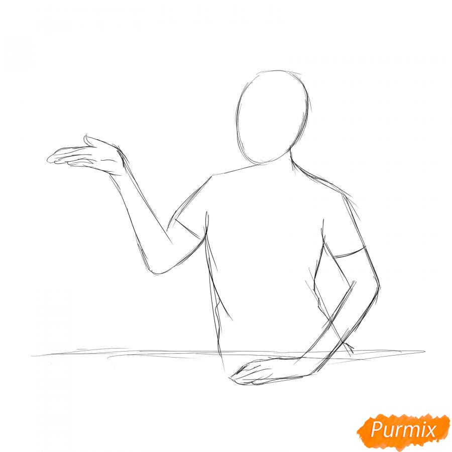 Рисуем продавца - шаг 2