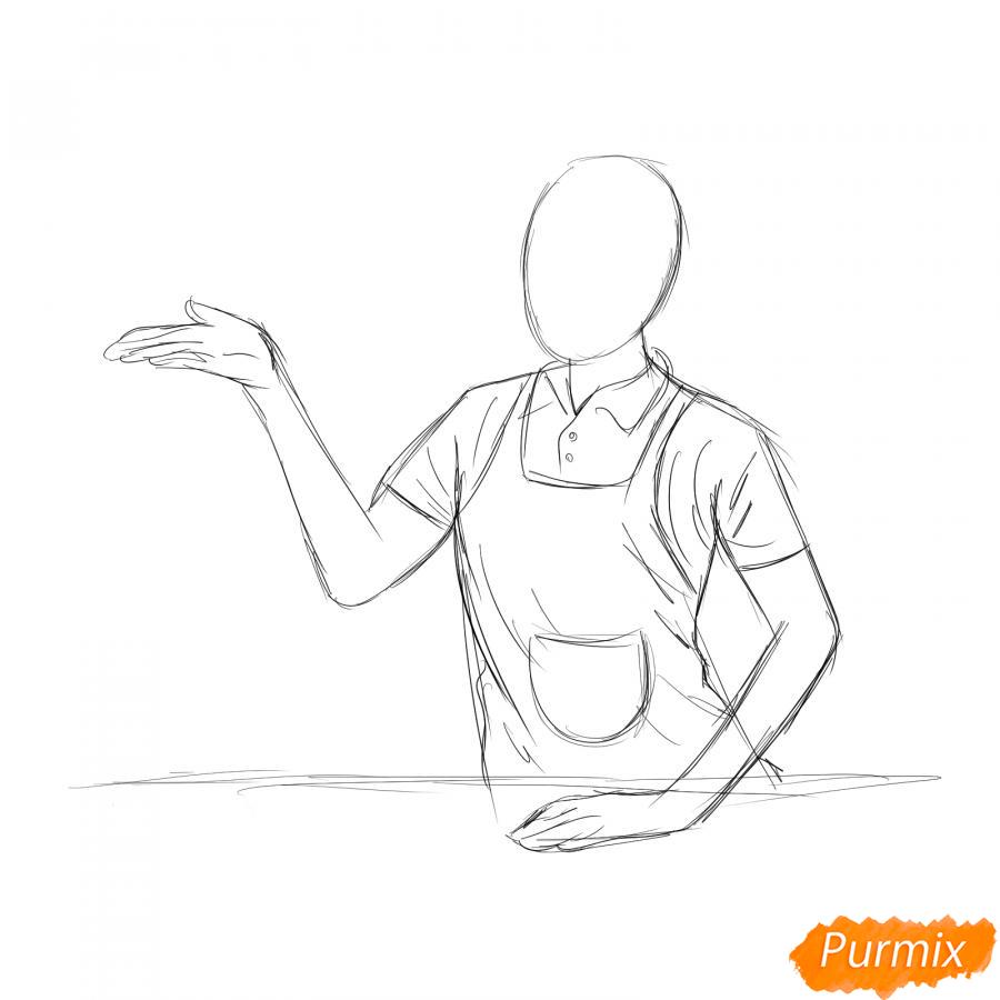 Рисуем продавца - шаг 3