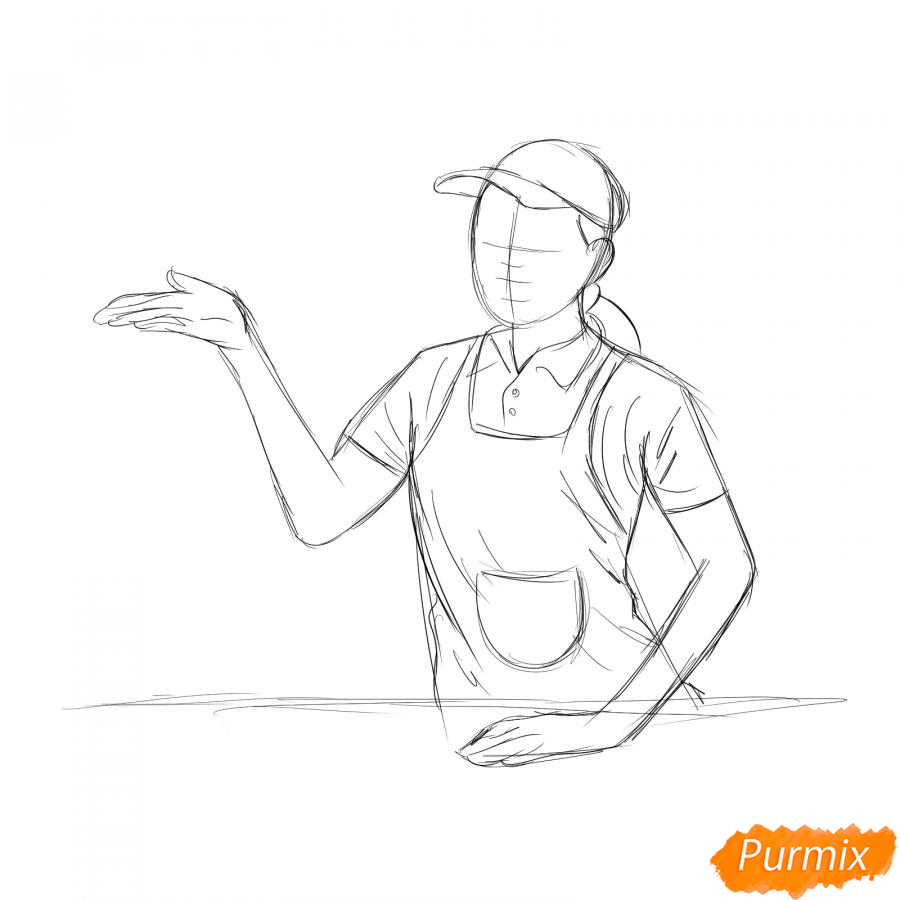 Рисуем продавца - шаг 4