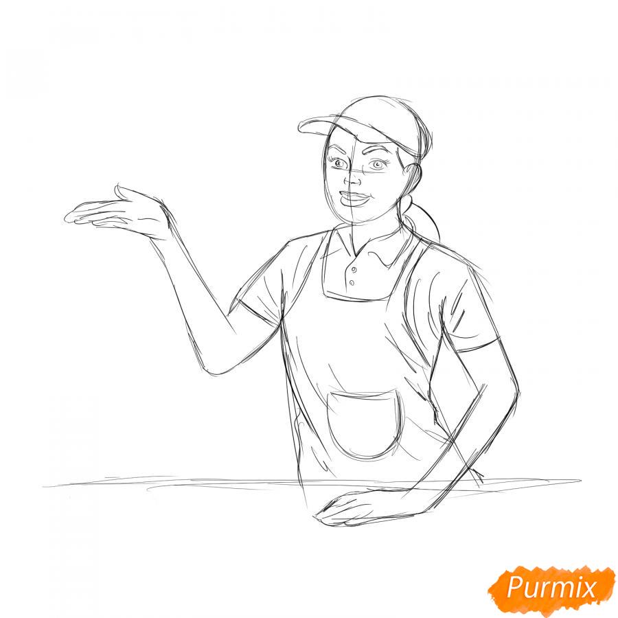 Рисуем продавца - шаг 5