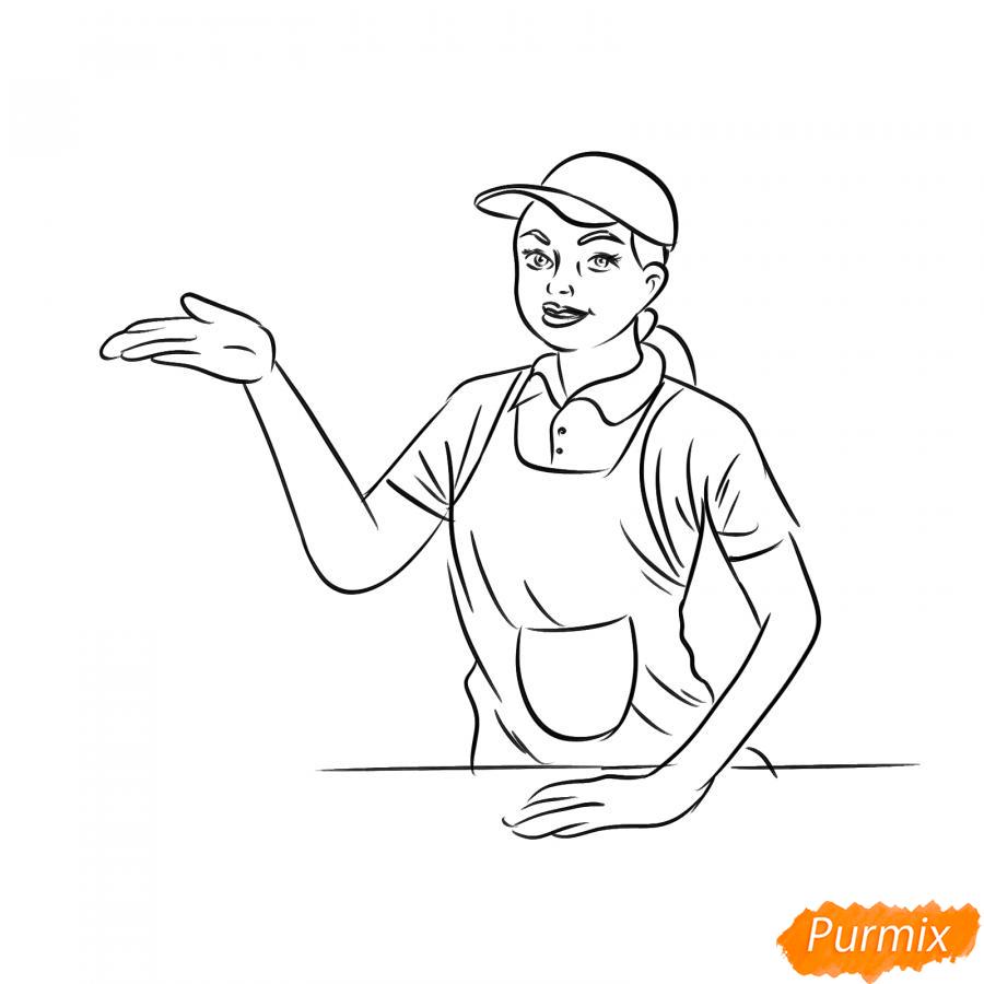 Рисуем продавца - шаг 6