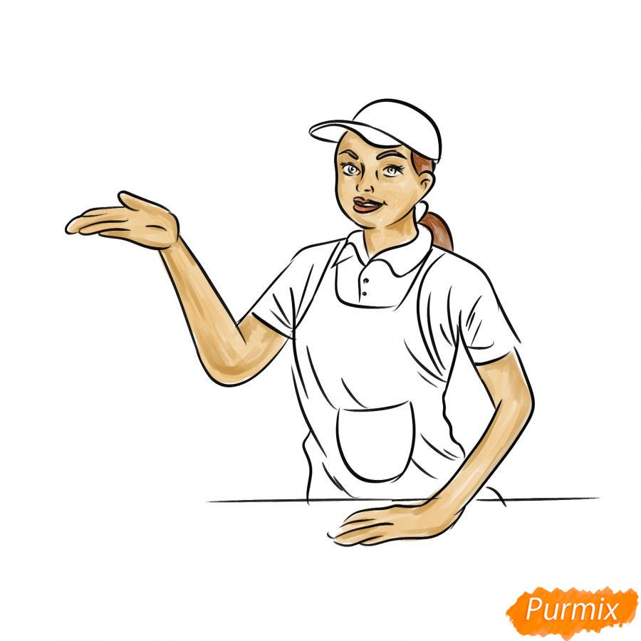 Рисуем продавца - шаг 7