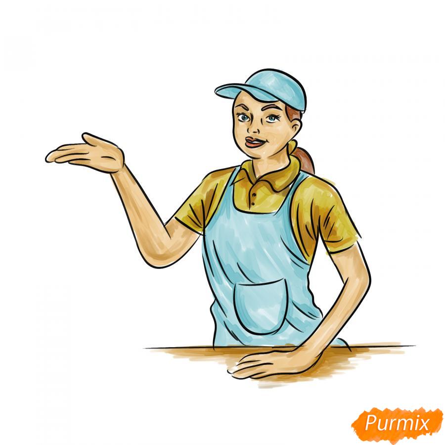 Рисуем продавца - шаг 8