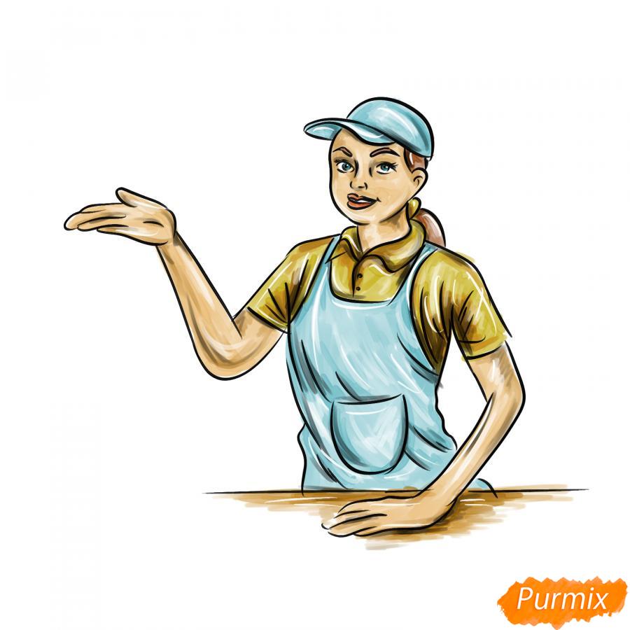 Рисуем продавца - шаг 9