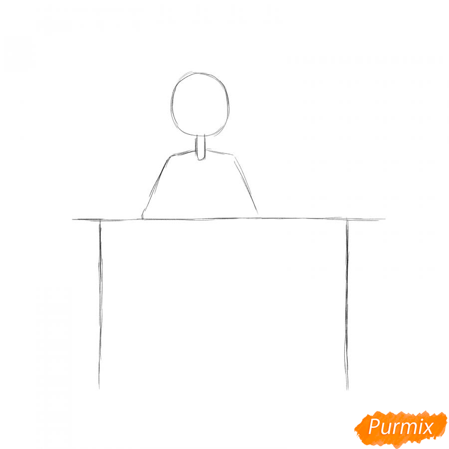 Рисуем программиста девушку - шаг 1
