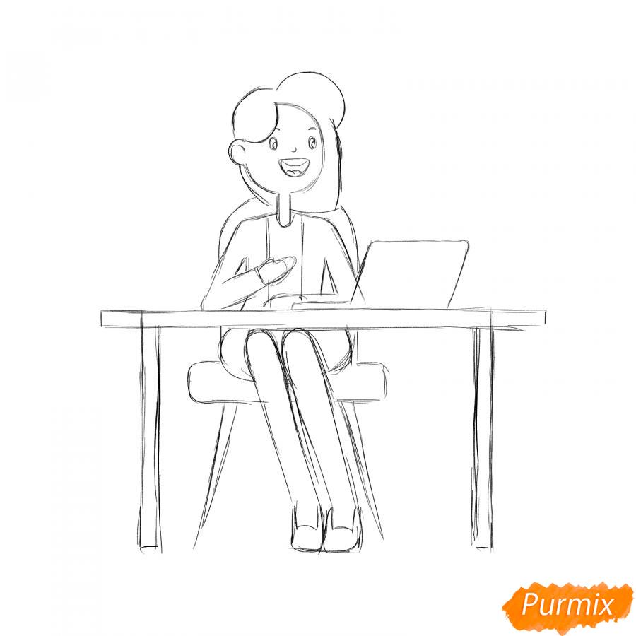 Рисуем программиста девушку - шаг 4