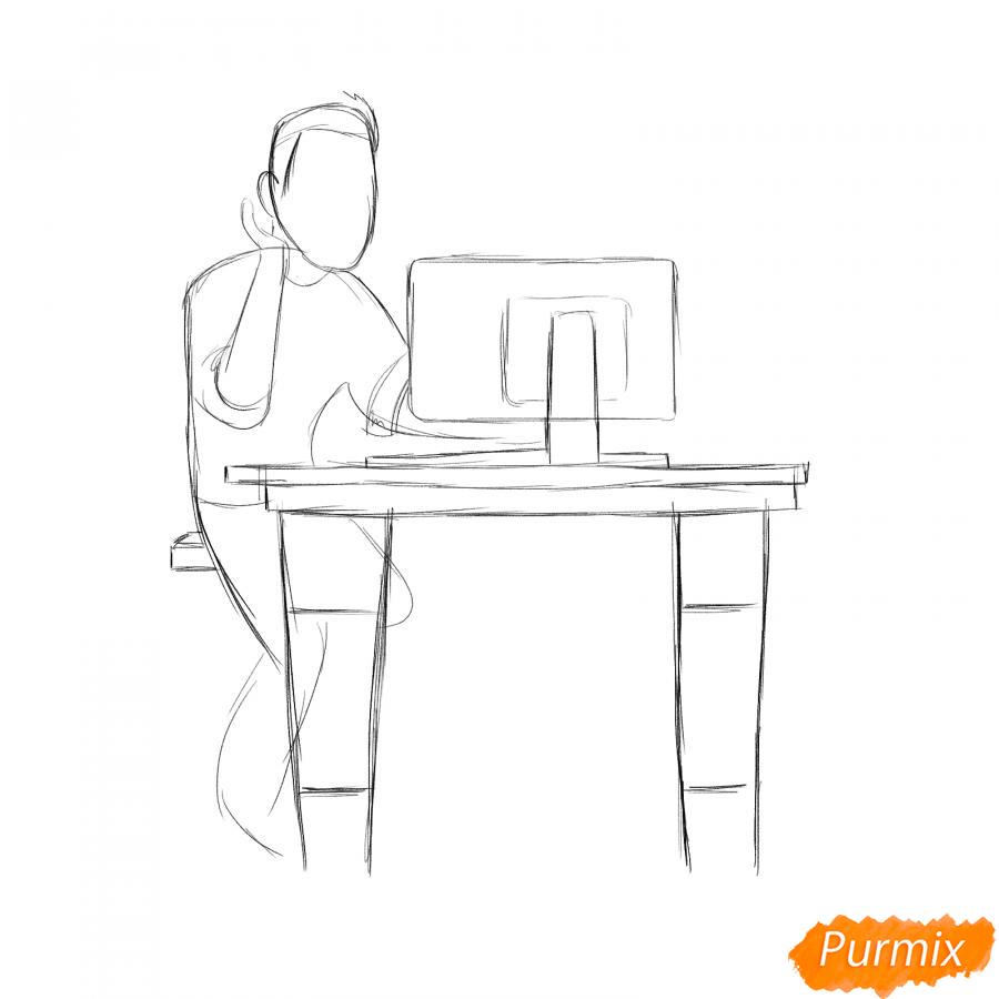Рисуем программиста карандашами - шаг 3